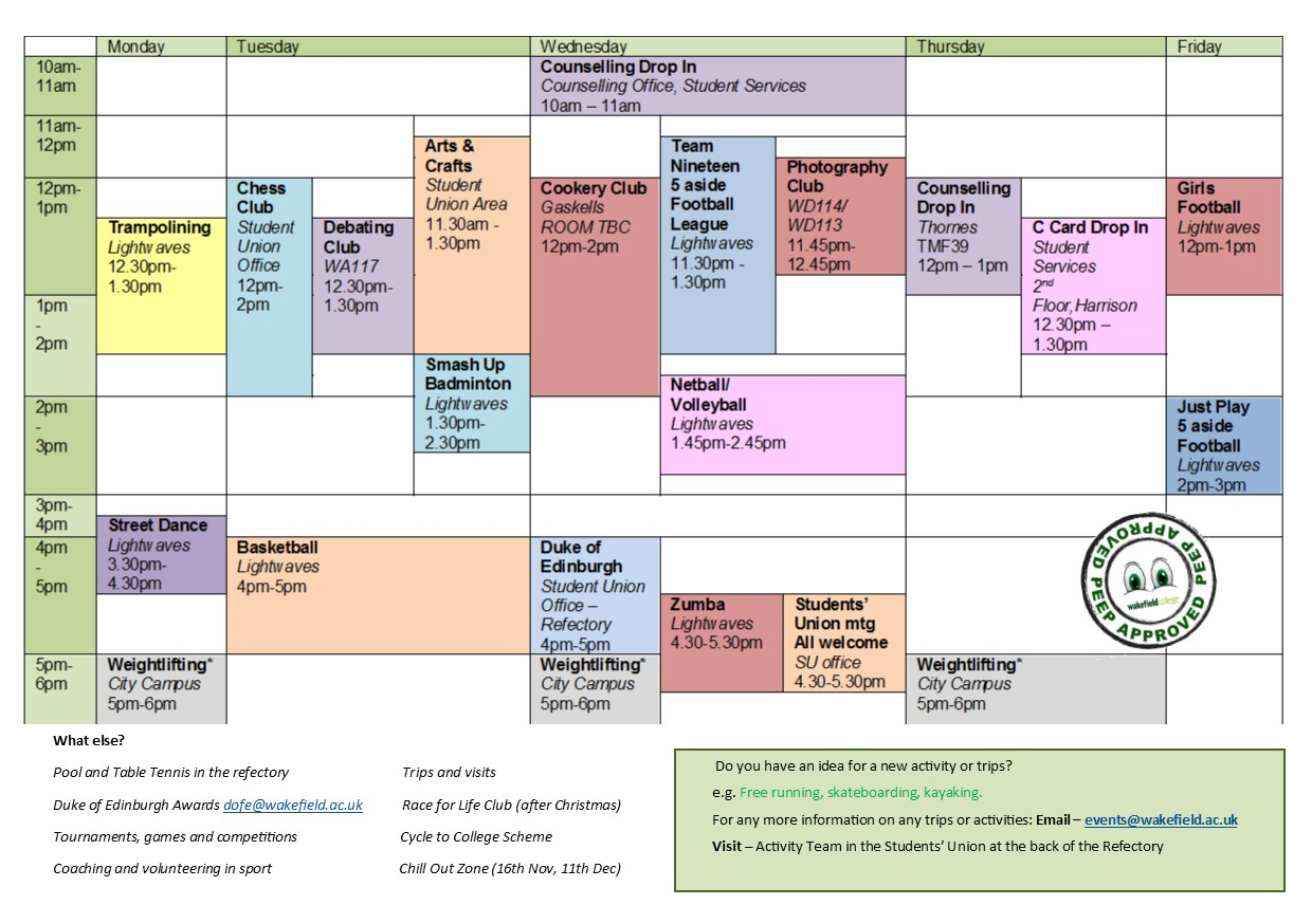City Campus Timetable
