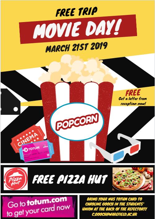 Wm Free Cinema And Pizza Hut With Totum Card